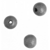 Wooden Bead Round 8mm Silver Lacquered